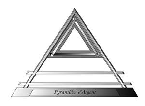 10 PYRAMIDE ARGENT EN
